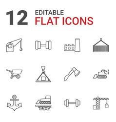 12 heavy icons vector