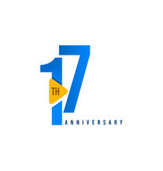 17 years anniversary celebration template design vector