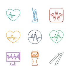 9 beat icons vector