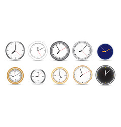 a collection ten different clocks vector image