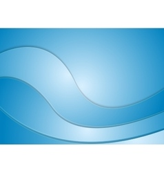 Abstract blue corporate wavy background vector