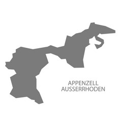 Appenzell ausserrhoden switzerland map grey vector