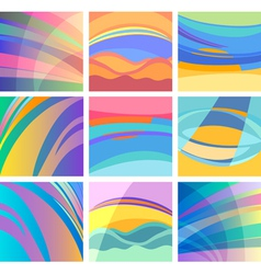 background abstract pastel design set vector image