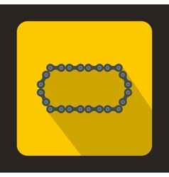 Bicycle chain icon flat style vector image