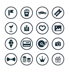 Birthday icons universal set vector