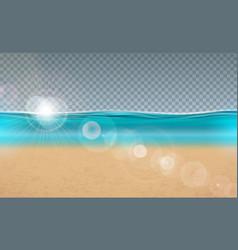 blue ocean landscape design vector image