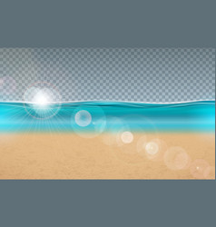 blue ocean landscape design with vector image