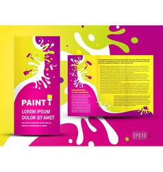 brochure folder paint colorful element design vector image
