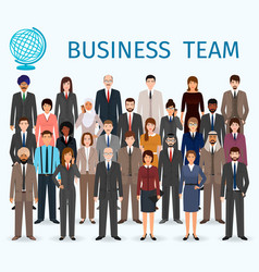 Business team group of detailed office employee vector