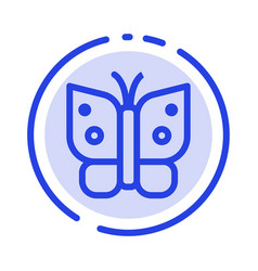 butterfly freedom insect wings blue dotted line vector image