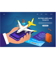 buying airplane tickets vector image