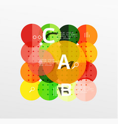 Circle bubbles modern geometric background vector