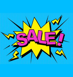 comic sale discount vector image