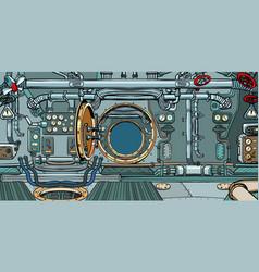 compartment spacecraft or submarine vector image