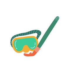 diving mask summer travel symbol vector image