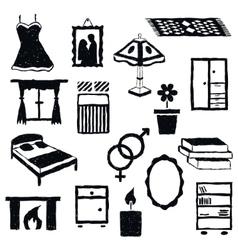 doodle bedroom images vector image