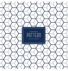 Elegant hexagonal 3d cube style pattern background vector