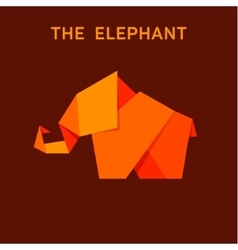 elephant flat style design animals vector image