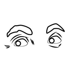 eyes pop art vector image