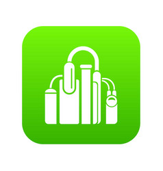 Factory icon green vector