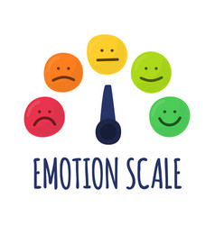 Feedback or rating scale with smiles representing vector