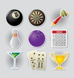 gambling icons vector image