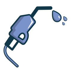 Gasoline pump nozzle icon cartoon style vector