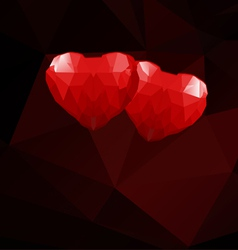Geometric hearts vector