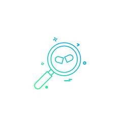 Glass search pills zoom icon desige vector