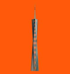 Guangzhou skyline stamp city silhouette design vector