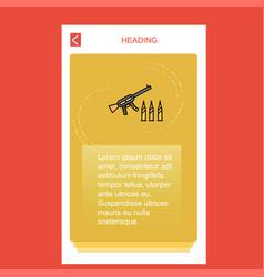 guns mobile vertical banner design design vector image