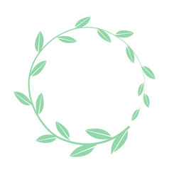 hand drawn round frame floral wreath with vector image