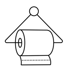 Hanging a bathroom tissue toilet paper rolls vector
