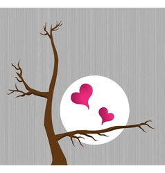 Hearts with tree vector