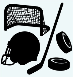 Hockey icon vector