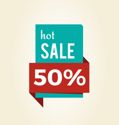 hot sale -50 off promo label informing discount vector image