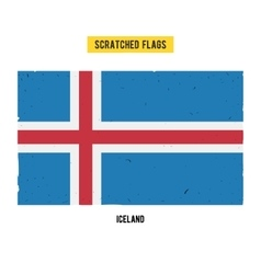 Icelandic grunge flag with little scratches on vector image