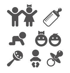 icon baby set vector image