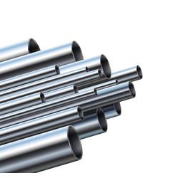 Industrial different diameter metal pipes vector