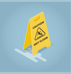 Isometric concept template warning plate vector