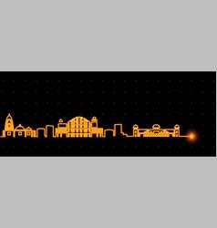 jaipur light streak skyline vector image