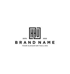 Letter hhv square logo design vector
