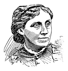 louisa may alcott vintage vector image