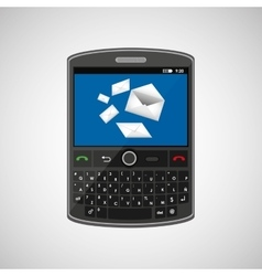 mobile cellphone email chat icon vector image
