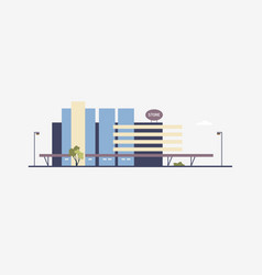 modern building of megastore or shopping center vector image