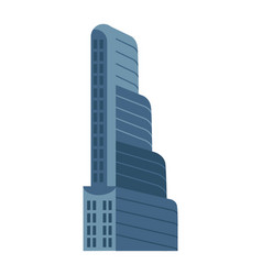 Modern multi storey building isolated icon vector