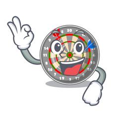 Okay dartboard in the shape of mascot vector