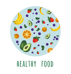organic food concept in circle vector image