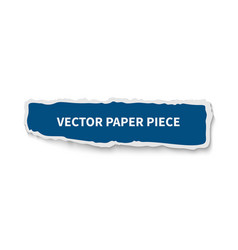 paper piece gap realistic banner template vector image