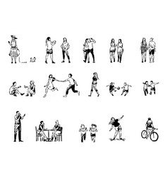 people spend time together friends and couples vector image